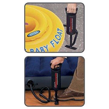 Intex 68612 Hi Output Hand Pump, 3 verschiedene Düsenaufsätze, Luftschlauch, 29 cm -