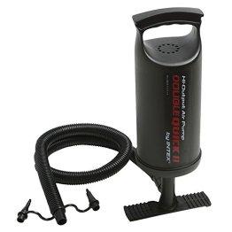 Intex 68614 Hi Output Hand Pump, 3 verschiedene Düsenaufsätze, Luftschlauch, 36 cm -
