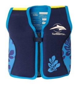 Kinder-Schwimmweste 4J-BB-138 aus Neopren, Blaue Blätter, Größe: 16-21 kg (4-5 Jahre), Brustumfang 61 cm -