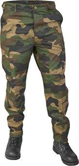 Lange Jagdhose Jägerhose aus robustem Baumwollmischgewebe in verschiedenen Farben Farbe Woodland Größe L -