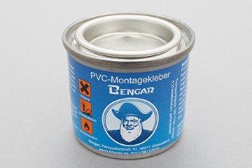 PVC Kleber + Kleberverdünner von Bengar für Schlauchboote aus PVC Bootshaut -