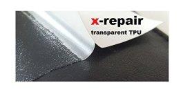 repair patch selbstklebender Reparatur Aufkleber TPU transparent elastisch Flicken für Neopren, Gummi, Regenjacke, Fahrradschlauch, Schwimmingpool-Folie (jeweils 2 Stück) reflektierender Aufkleber (70 mm x 70 mm) -