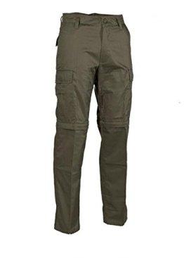 Robuste + Komfortable US Style Outdoor Jungle Hose Zipp-Off Anglerhose mit Reißverschluss verschiedene Farben XS-XXL (XXL, Oliv) -
