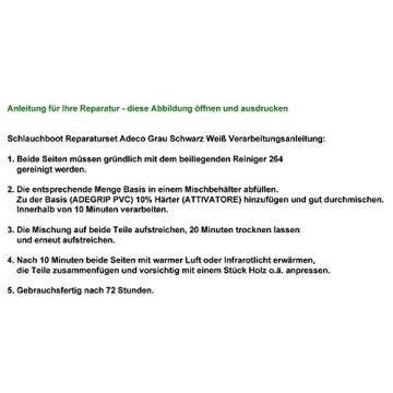 Schlauchboot Reparaturset Adeco Grau -