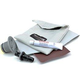 Schlauchbootventil Adapter mit Flicken Kleber Reparaturset -