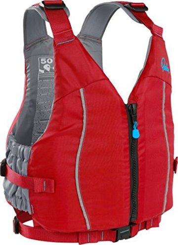 Schwimmweste Quest Palm Kajak, Kanu, SUP, Allround, Touren mit Reißverschluss, Farbe:rot;Größe:M/L -