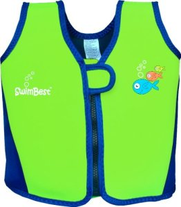 Swimbest - Baby/Kinder - Schwimmjacke / Schwimmweste aus Neopren, Grün/Marineblau, 18 Monate - 3 Jahre (Bis zu etwa 20 kg) -