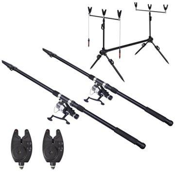 vidaXL Angelset mit 2 Teleskopruten und Bissanzeiger 3,6 m -