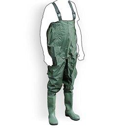 Wathose Anglerhose Watstiefel Watt Fisch Teich Gummi PVC Nylon Gr. 45 -