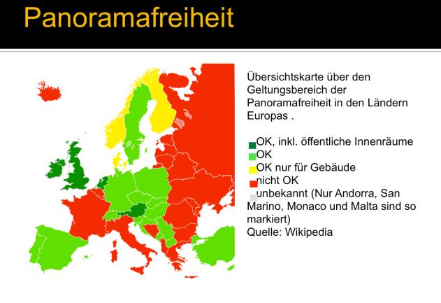 Panoramafreiheit Europa