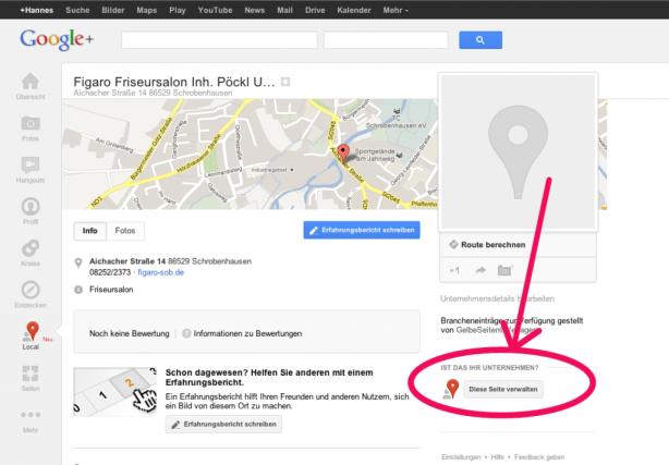 Neue Google Plus Seite Friseur in Schrobenhausen