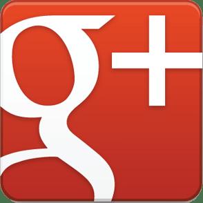 Google Plus Logo in Rot