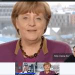 Meshup mit Bundeskanzlerin Angela Merkel im Hangout on Air