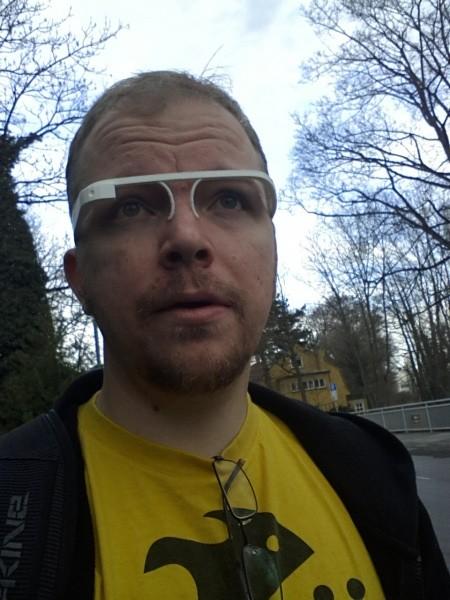 Nils mit Google Glass