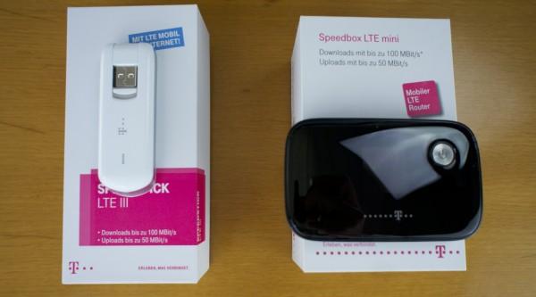 Einen USB Surfstick LTE III und eine Speedbox LTE mini