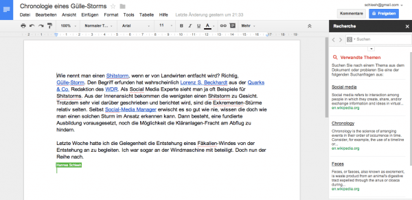 Google Drive Kollaboration in der Cloud Screenshot