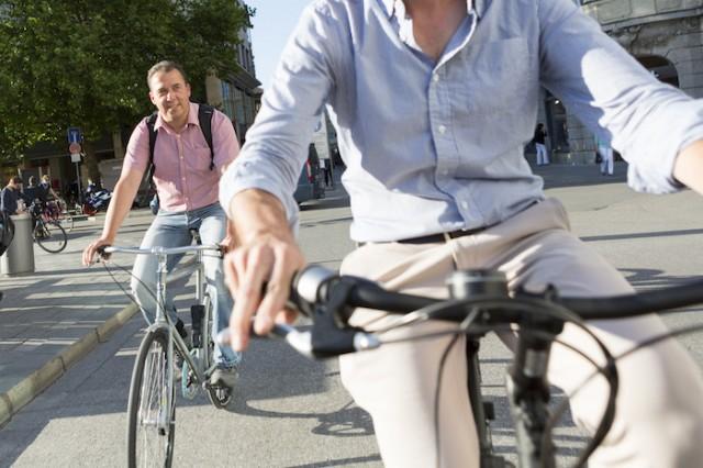 Auf Fahrrad-Tour in München