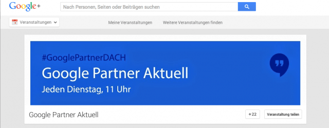 Screenshot Google Partner Aktuell ein misslungener Auftakt einer Serie
