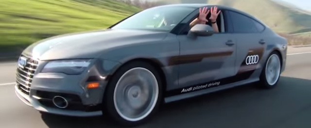 Audi RS7 pilotiertes Fahren Screenshot Audi YouTubevideo