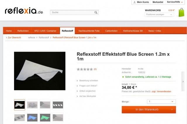 VizLite TM100 Reflektiernder Effektstoff von reflexia.de Screenshot