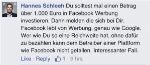 Wer nicht bezahlt hat keine Rechte auf Facebook