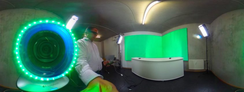 Greenscreenstudio im Existenzgründerzentrum Ingolstadt Foto Hannes Schleeh
