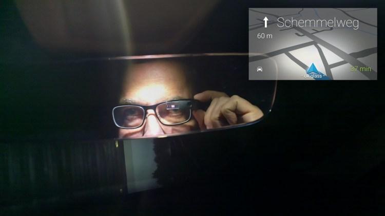 Hannes Schleeh im Rückspiegel Selfie mit der Frankenstein Google Glass.jpg