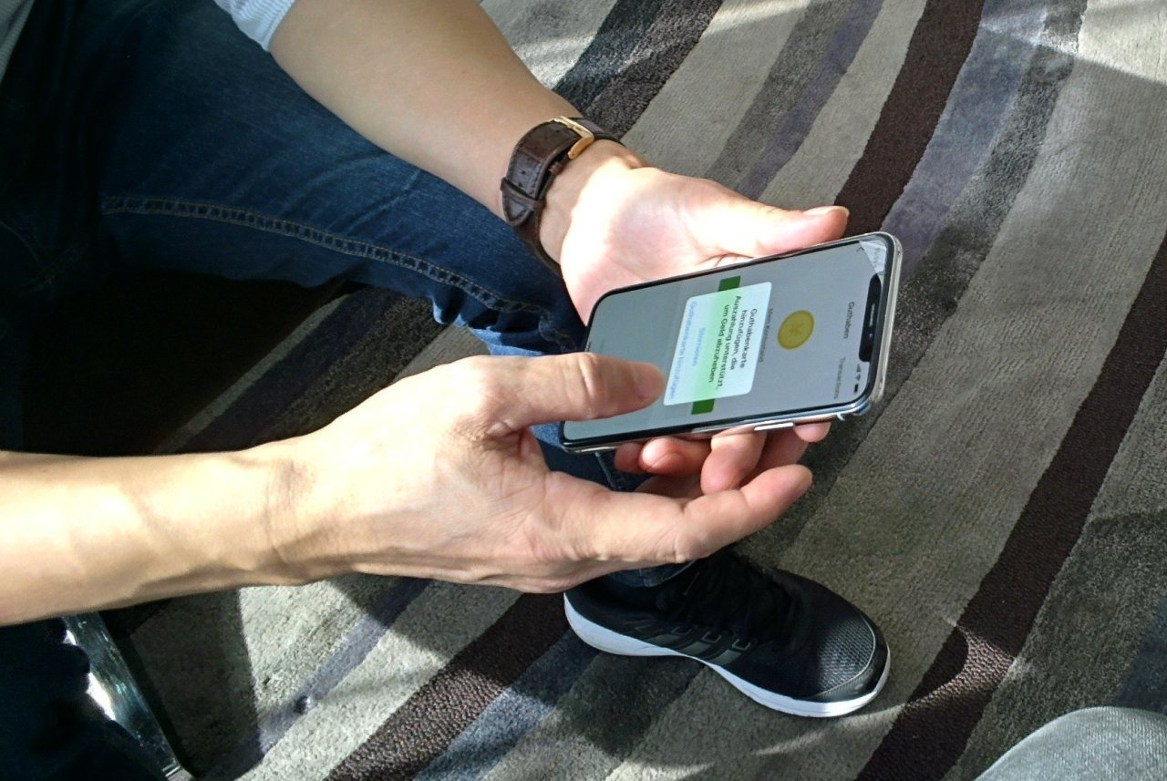 WeChat Pay am Smartphone