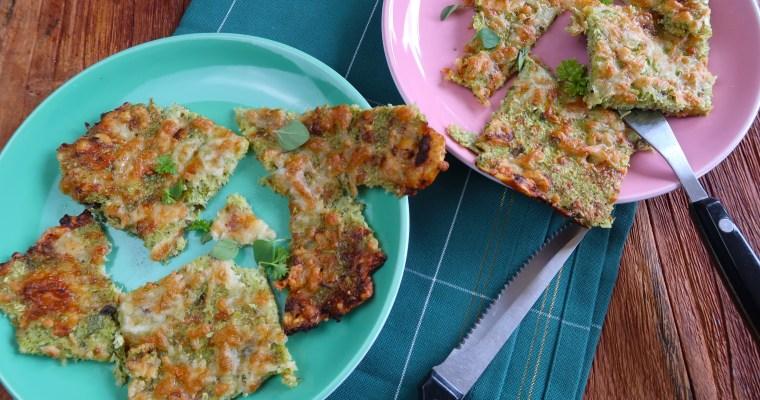 Käse-Brokkoli-Snack aus dem Ofen