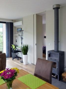 Der Wohnraum (mit der Küche im Rücken)