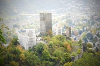Blick von der Oberburg auf die Niederburg