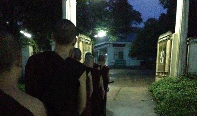 monks in the morning in Myanmar