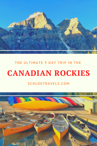The Ultimate 9 day trip in the Canadian rockies