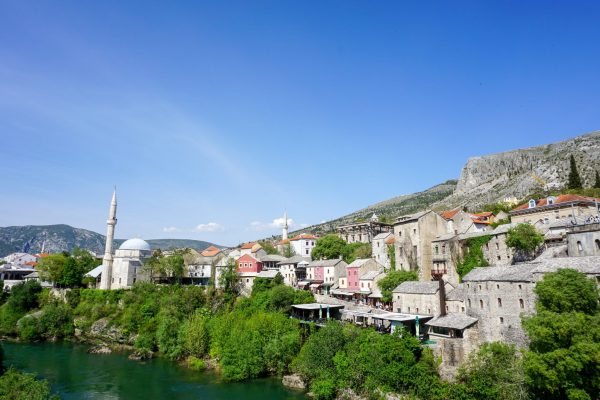 On Top of the Stari Most Bosnia