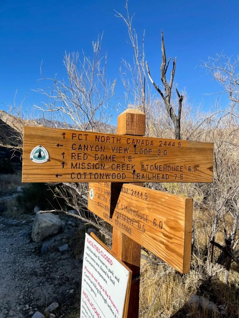 Whitewater Preservetrail sign