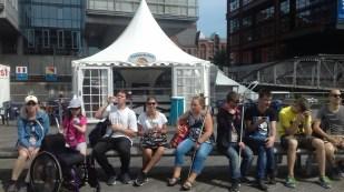 Gruppenfoto in Hafencity