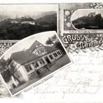 Postkarte 1901 mit Gasthaus (Postkarte von Rudolf Arndt (1901), Aschersleben)