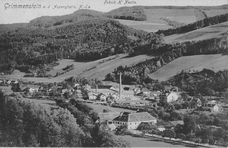 Fabrik H. Nestlé um 1920.