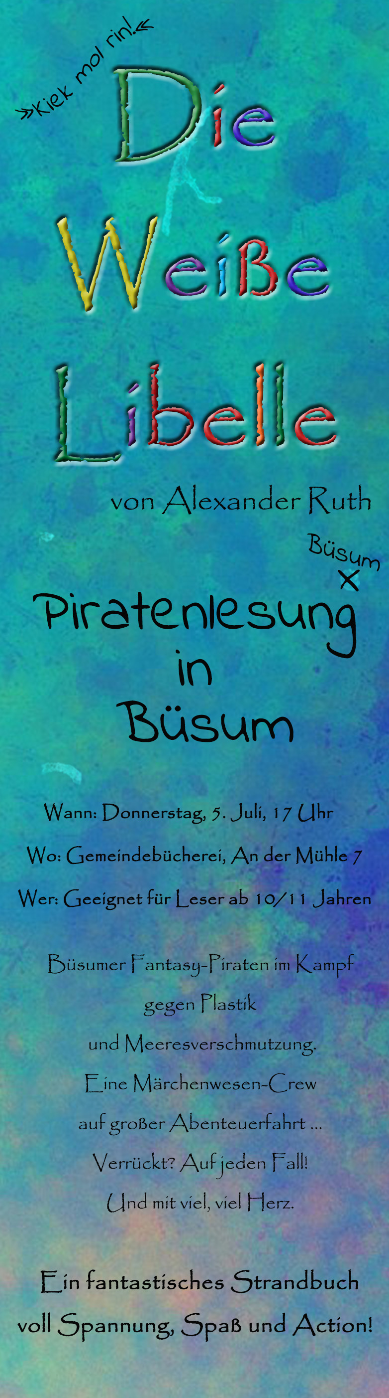 Piratenlesung in Büsum mit Alexander Ruth.