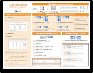 data wrangling cheat sheet r