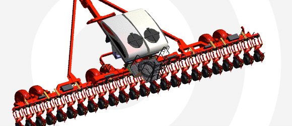 White Planter 9500VER Flex Frame