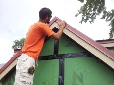 Trimming out the gable