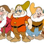 Digital Rendering of the Seven Dwarfs by Steven Walker using Photoshop and Illustrator. Characters copyright Disney.