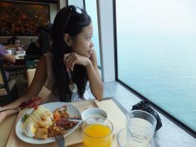 Last day breakfast by the window at Mediterranean Terrace