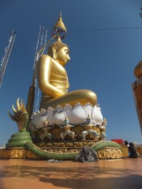 Krabi The Tiger Cave Temple - Viewpoint - The biggest Buddha Statue