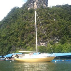 Fishing Village, Langkawi with Gold Yacht