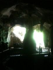 Bat Cave Dark Interior looking out, Langkawi