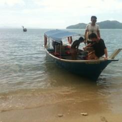 Alighting at Gua Cerita Beach, Langkawi