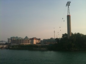 Resorts World Sentosa with Cable Car in View