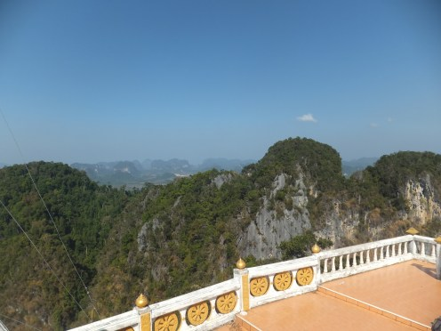 Krabi The Tiger Cave Temple - Viewpoint - Backview Landscape